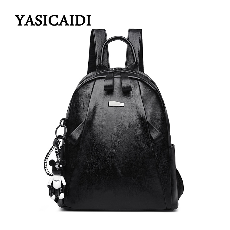 High Quality Women Backpack Pu Leather Bags New Arrival 2018 Backpacks For Teenage Girls Schoolbag Fashion Bag Woman Back Pack