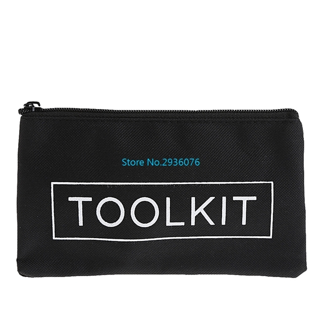 Waterproof Tool Kit Bag 600D Oxford Cloth Tool Bag Zipper Storage Instrument Case 19x11cm