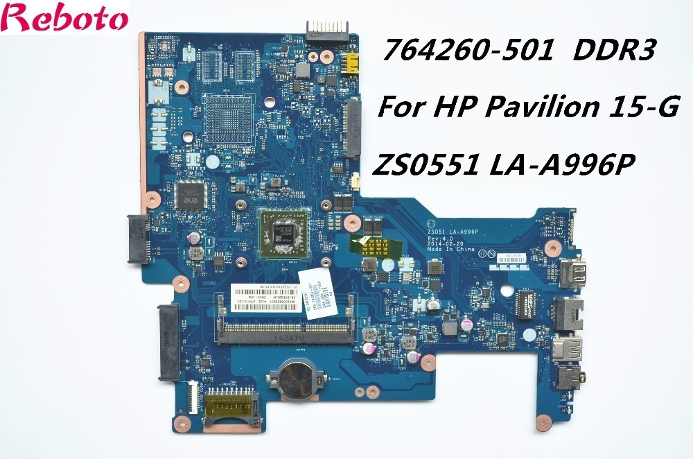 Refurbished Wholesale Laptop Motherboard For HP Pavilion 15-G ZSO51 LA-A996P 764260-501 CPU A8-6410 DDR3L 762526 501 main board for hp pavilion 15 p day22amb6e0 laptop motherboard ddr3 am8 cpu
