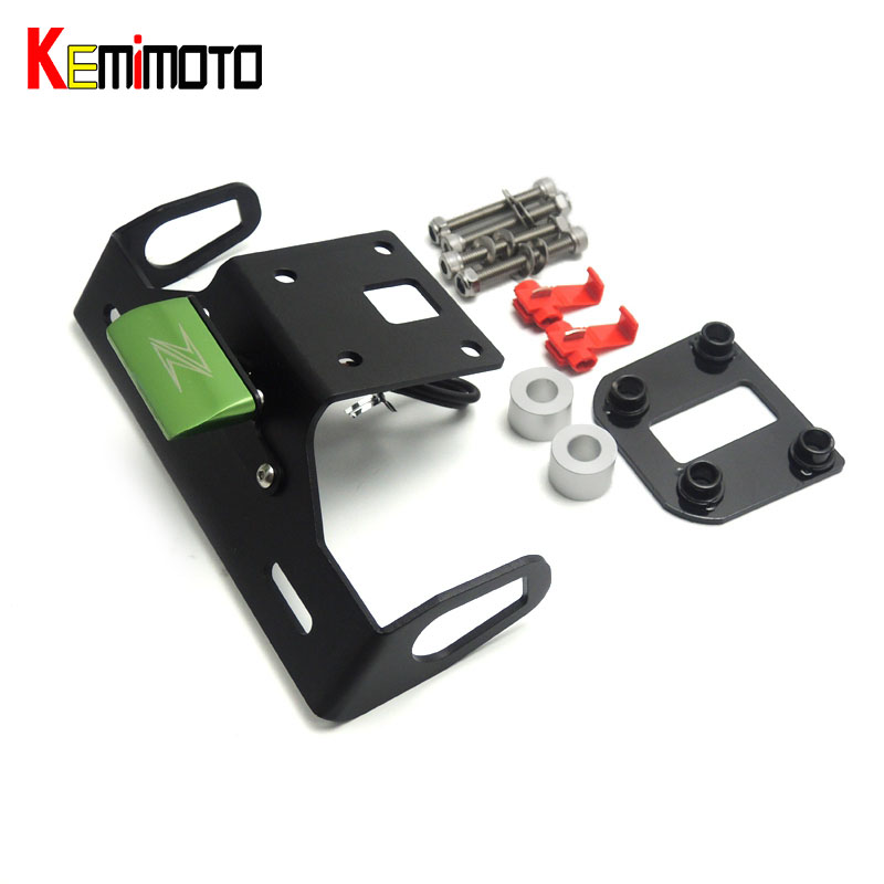 KEMiMOTO For KAWASAKI Z800 Motorcycle Tail Tidy Fender Eliminator Registration License Plate Holder LED Light z800 2013-2016 for kawasaki z900 2017 motorcycle tail tidy fender eliminator registration license plate holder led light free shipping