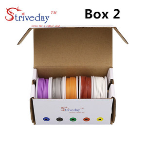 Image 4 - 50m/box 164ft Hook up stranded wire Cable Wire 28AWG Flexible Silicone Electrical Wires 300V 5 color Mix Tinned Copper DIY