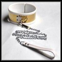 Titanium aço inoxidável liner de silicone colar cervical cadeia escravo bdsm fetiche bondage restrições colares brinquedos sexuais para jogos adultos