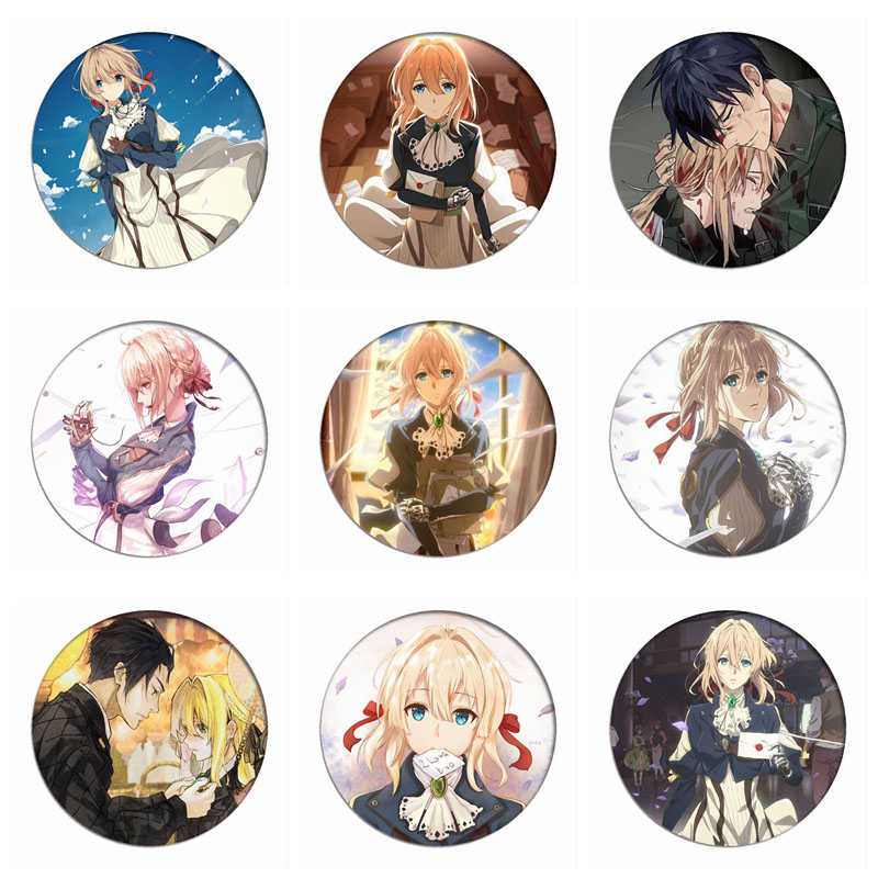 Anime Violet Evergarden Cosplay Badge Claudia Hodgins Brooch Pins Collection Badges For Backpacks Clothes