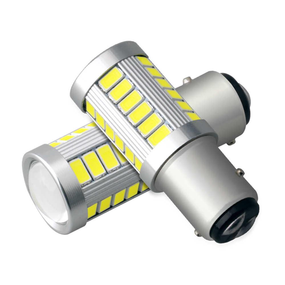 1 1156 BA15S P21W 33 LED 5630 5730 SMD Xe Đuôi Bóng Đèn Phanh Đèn Tự Động Đảo Ngược Đèn Chạy Ban Ngày ánh Sáng Trắng Đỏ Vàng