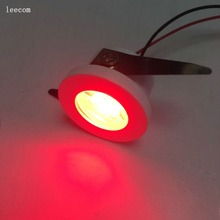 20pcs/lot diameter 25mm cut size Led Cabinet RED mini Spot light  1W Include Driver AC85-265V 30mm*30mm Mini downlight