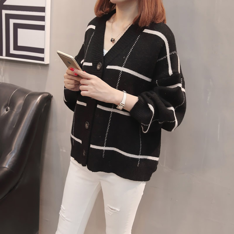 2019 femmes à manches longues tricoté Cardigan chandail avec boutons dames automne hiver 2019 nouveau surdimensionné cachemire chandails manteau XXXL