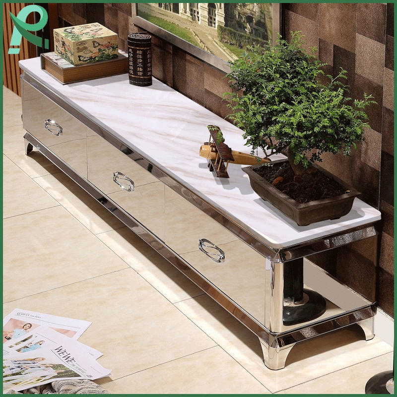High Quality Modern Marble Coffee Table TV Cabinet Living