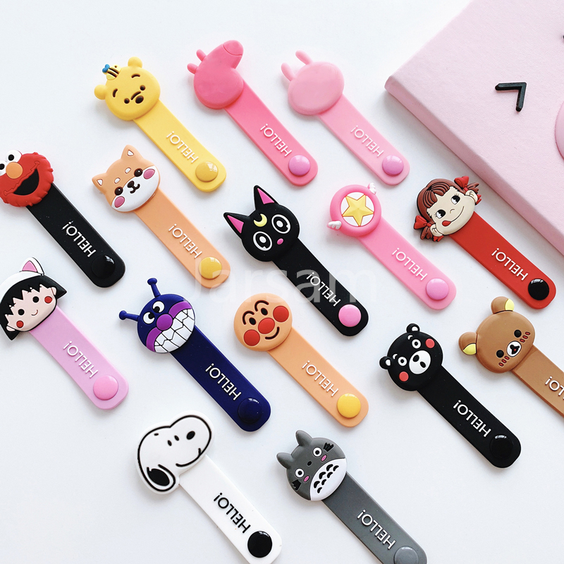 Cartoon Cable Protector Data Line Cord Protector Protective Case Cable Winder Cover For iPhone USB Charging Cable For iPhone xr