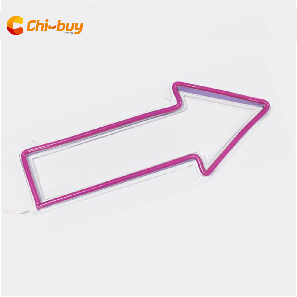 Chi buy LED neon sign arrow route indication signage bar & wedding party wall decoration sign home decoration neon sign