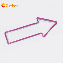 Chi-buy LED neon sign arrow route indication signage bar & wedding party wall decoration sign home decoration neon sign