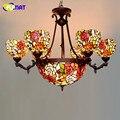 Фумат подвески свет классический Витраж Тиффани Роза Абажур осветительный прибор для гостиной Европейский роскошный светодиодный подвесн...