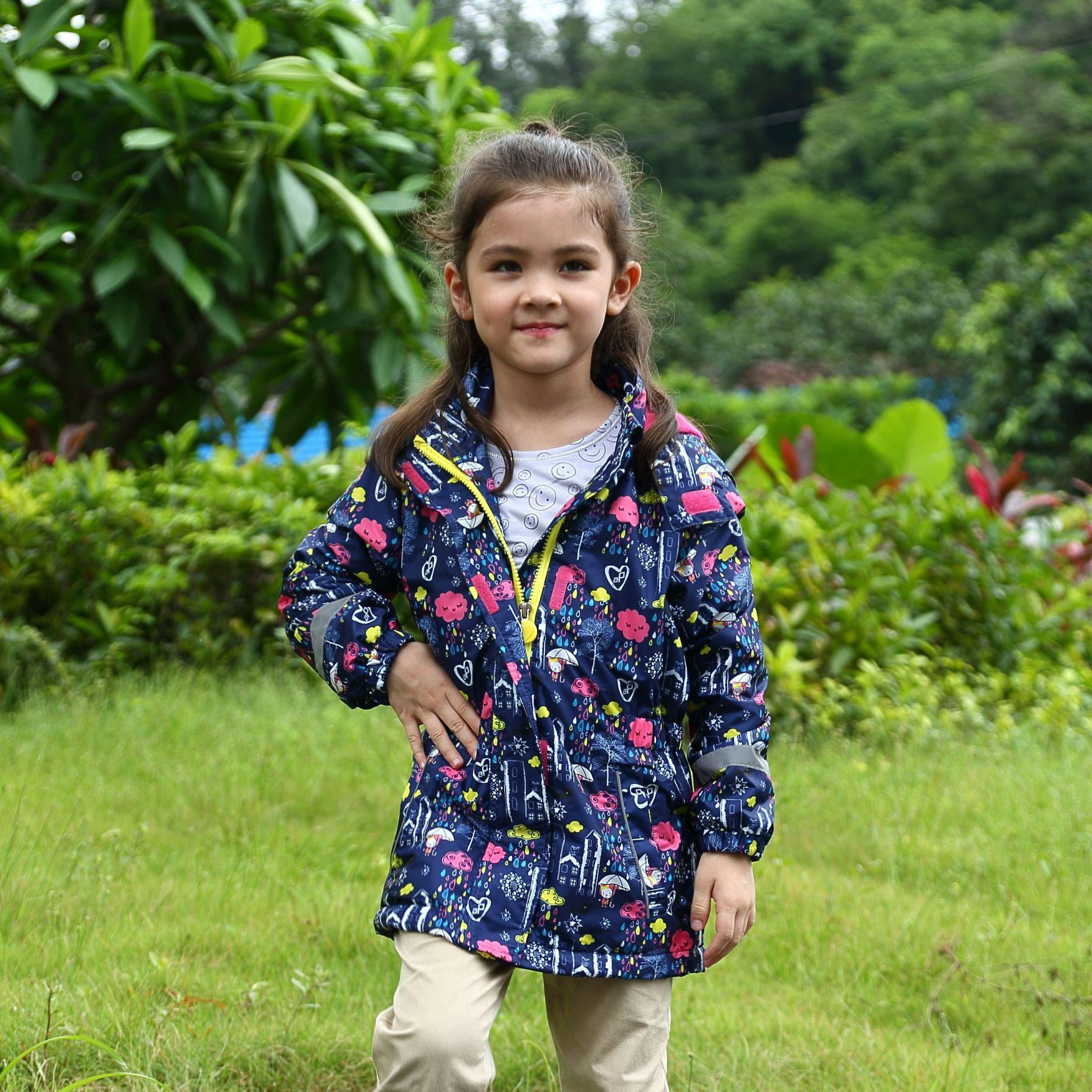 2017 Dívčí bundy Kabáty sport Outdoor Vodotěsné Větruvzdorné bundy Podzim Jaro Děti Značka Dvoupodlažní dětské oblečení