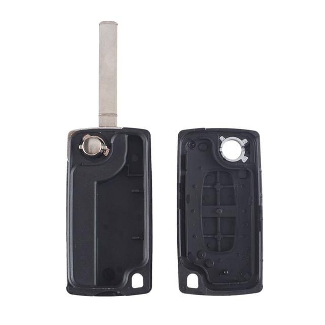 Case Chiave per Citroen C2 C3 C4 C6 Berlingo 2 Button Flip Folding Key Shell Ce0523 VA2 Blade Remote Key Shell Auto 3