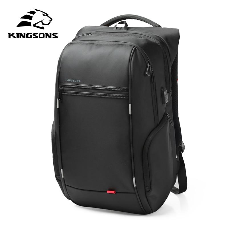 Kingsons KS3140 Laptop Backpack External USB Charge Computer Backpacks Anti Theft Waterproof Bags For Men Women
