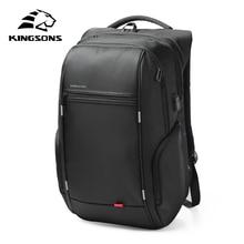 Kingsons KS3140 Laptop Backpack External USB Charge Computer Backpacks Anti-theft Waterproof Bags for Men Women