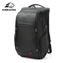Kingsons KS3140 Laptop computer Backpack Exterior USB Cost Pc Backpacks Anti-theft Waterproof Baggage for Males Girls