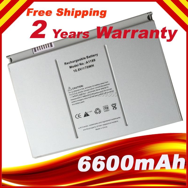 Laptop Battery A1189 For Apple MacBook Pro 17'  MA611B A1151 A1212 A1229 A1261