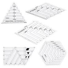 5x Quilting Polygon Hexagon Shapes 바느질, 퀼팅 및 스크랩북 용 아크릴 템플릿 읽기 쉬운 표시