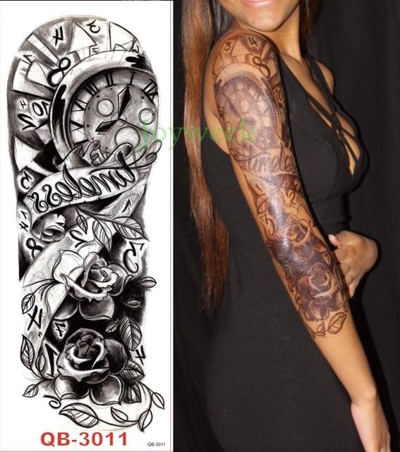 Womens Temporary Tattoos: Waterproof Temporary Tattoo Sticker Full Arm Large Size