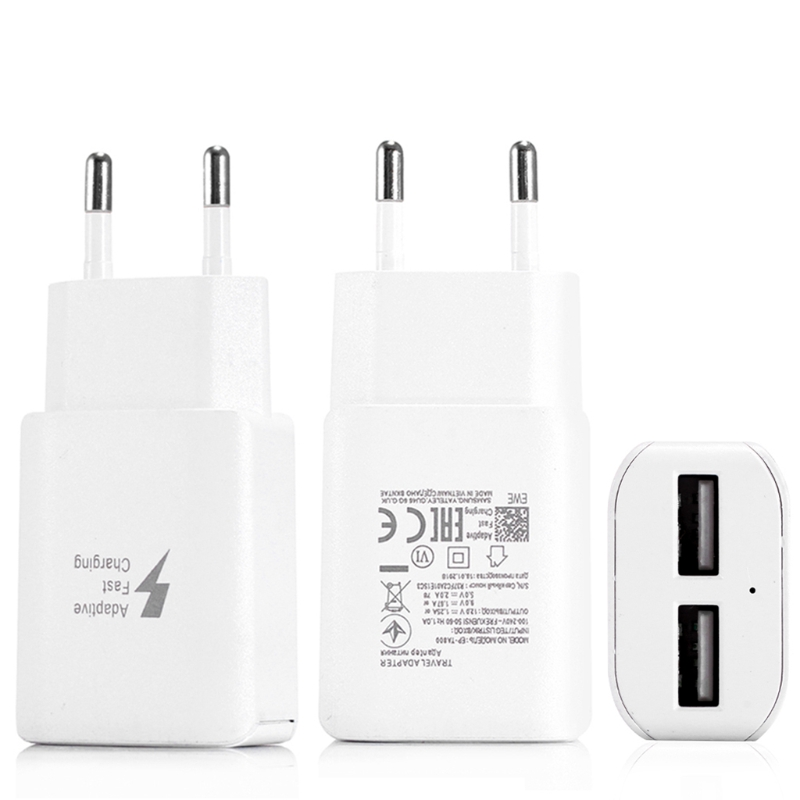 Dual USB QC 3.0 Quick Charge Wall Travel Charger Adapter EU US Plug for iphone samsung