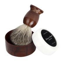 Beauty Girl Hot Professional ZY Badger Hair Shaving Brush Natural Wood Mug Bowl Hand Made Soap Barber Set Dec.20