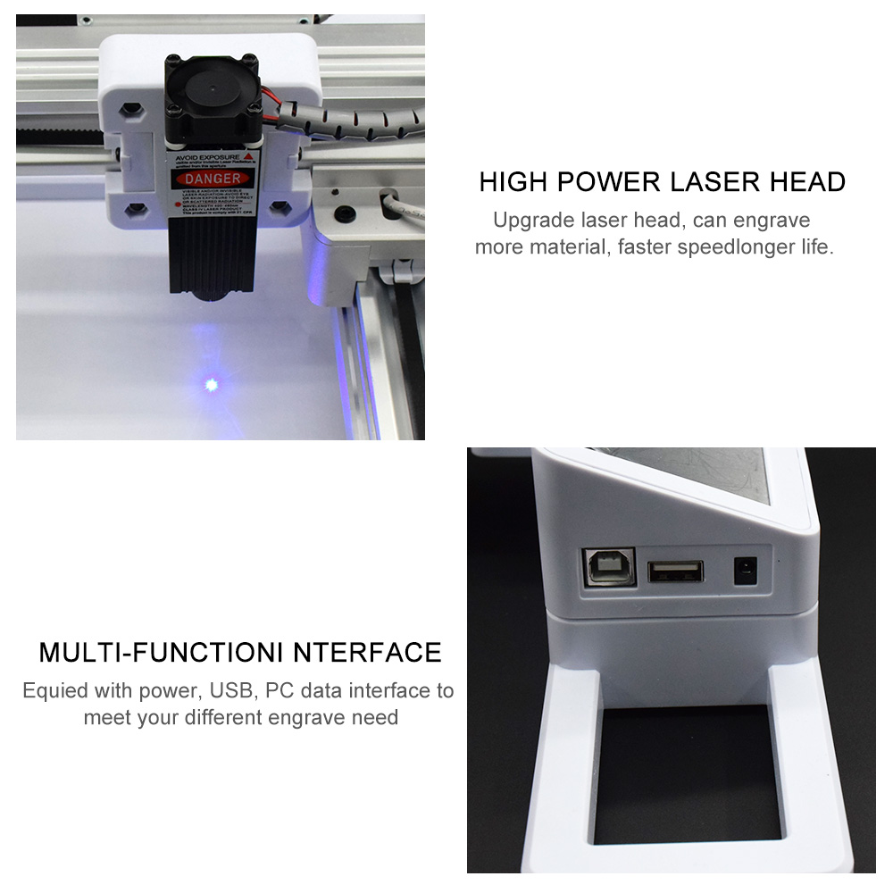 7000MW Wood Router OffLine Control Milling Machine CNC Engraving Machine 7W 3W Laser Engraving Machine Carving Wood Tools 4