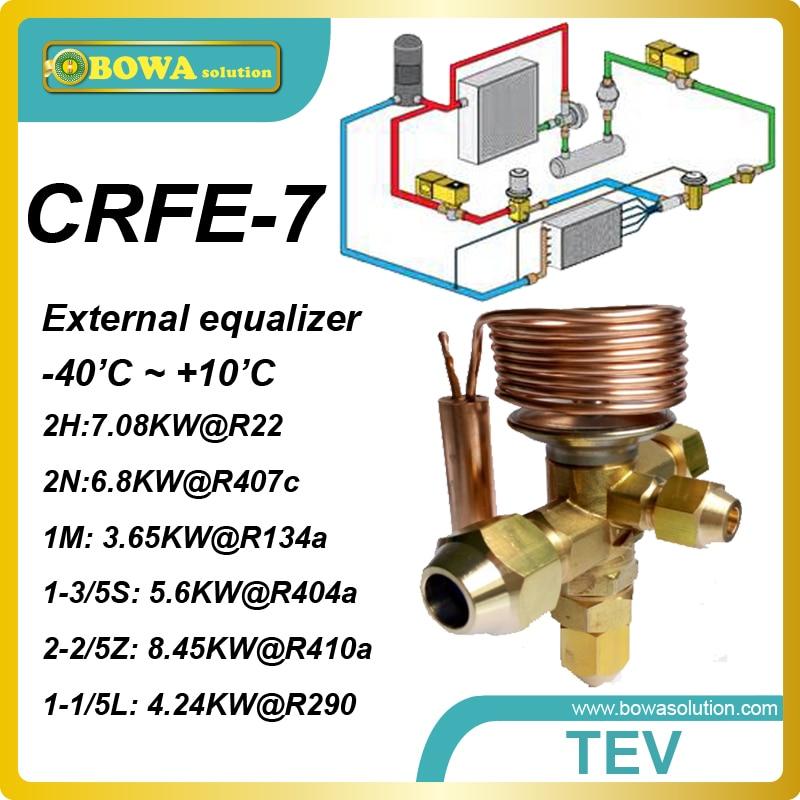 CRFE-7 (3.65KW, R134a) F type expansion valves designed for Danfoss (Secop) GS26MFX or GS34MFX compressor and Copland ZR18 5 pcs qdzh35g r134a 12v cooling compressor for marine refrigeration unit