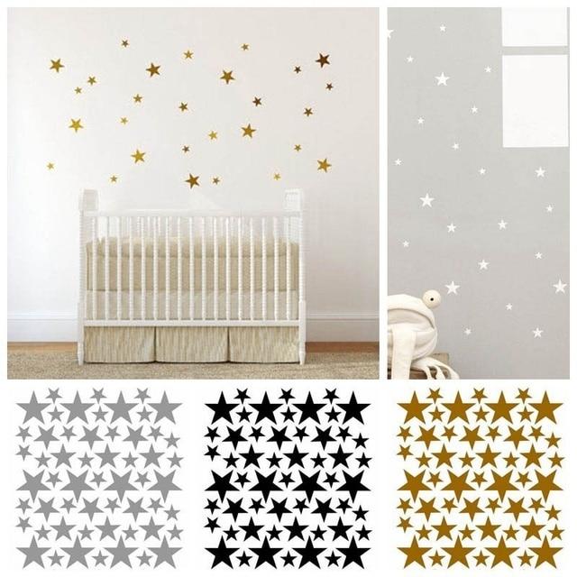 Cute Pentagon Shape Wall Sticker Kids Nursery Stickers Wall Decals Home Decor Creative Beautiful Star Wall Stickers