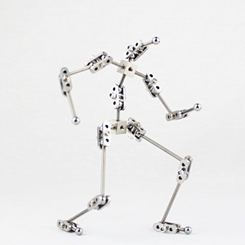 CINESPARK SMA-18 18CM NOT-READY-MADE Studio Stop Motion Armature Kits | Metal Puppet Figure for Character Design Creation cinespark sba 15 15cm not ready made stainless steel diy stop motion character puppet armature kit