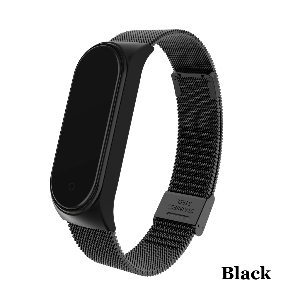 Image 2 - Metal Strap bracelet for Xiaomi Mi Band 4/3 Strap for Xiaomi Mi Band 4/3 Strap Stainless Steel MiBand 4/3 Wrist Band Belt-in Smart Accessories from Consumer Electronics