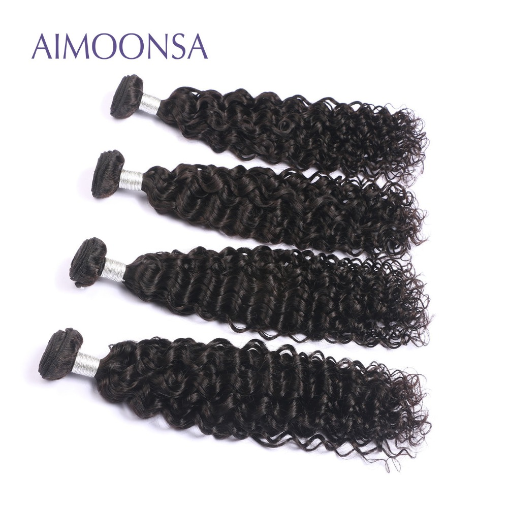 4 Bundles Brazilian Deep Curly Human Hair Extension Remy Hair Weave For Black Women Natural Color 10-26 Inch Free Shipping