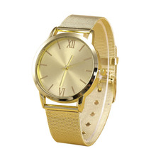 2016 New Women Casual Ladies Gold Stainless Steel Mesh Band Wrist Watch Dress Women Watches Relogio Feminino Clock  Hot Sale