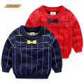 Striped Boys Sweaters Autumn New Fashion Brand Toddler Boy Clothing Children Knitted Pullovers Cute Bow Tie Casual Kids Clothes