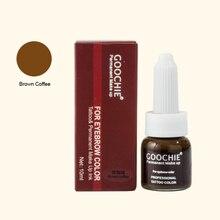 Microblading брови пигмент перманентный чернил коричневый чернила кофе бровей татуировки макияж