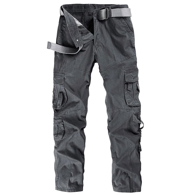 Pantalons Cargo pour hommes de marque avec de nombreuses poches pantalons militaires en vrac pour hommes pantalons tactiques en coton tactique sans ceinture