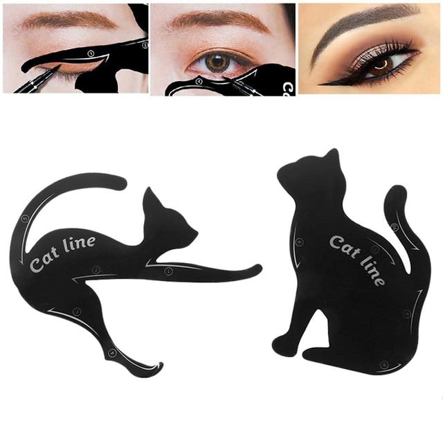 BONNIE CHOICE Cat Eye Liner Card Beauty Mold Stencils Pro Eye Makeup Tool Template Shaper Model For Eye Makeup Tool