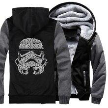 men hoodies streetwear fashion sweatshirts hooded jackets coats mans hip hop wool liner 2019 star war winter brand clothing man