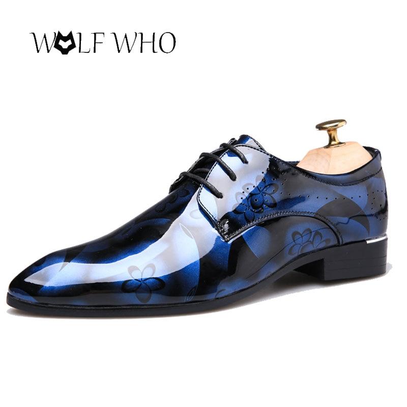 Men Dress Shoes Floral Pattern Formal Shoes Leather Luxury Fashion Wedding Shoes Men Oxford Shoes Zapatillas Hombre Size 37-50