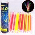 "100pcs/lot Glow Fluorescence Light Sticks Bracelets Necklaces Neon Flashing Lighting Toy Multi-color 8"" LED Light for Christmas"