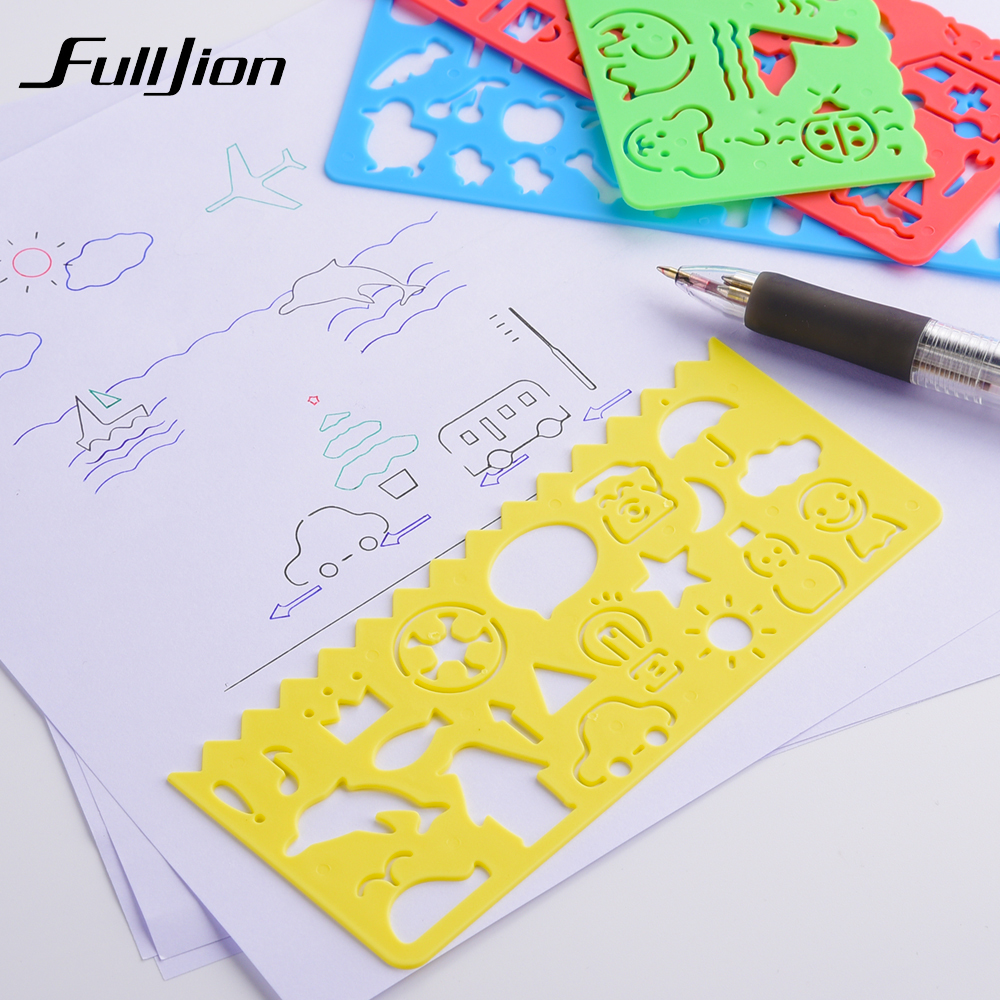 Fulljion Drawing Toys Template Ruler Painting Tools Learning Education Spirograph Stationery Sketchers School Supplies Kids Craf