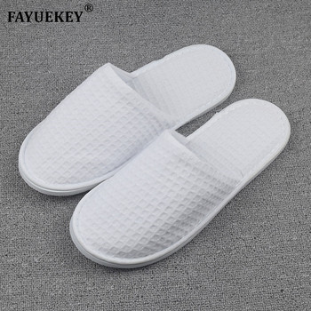 FAYUEKEY 2018 New Wholesale 5pairs\lot Hotel Club Supplies Not Disposable Hospitality Slippers Home Indoor Floor Guest - discount item  20% OFF Women's Shoes