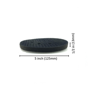 Image 2 - POLIWELL 1PC 5 Inch 8 Hole Sanding Sponge Interface Pad for Sanding Pads 125mm Hook&Loop Buffer Pad for Uneven Surface Polishing