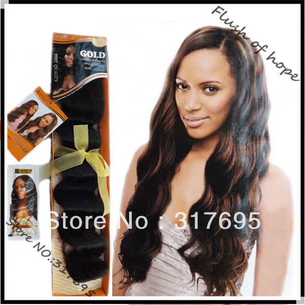 New Arrive Noble Gold Gg Gorgeous Synthetic Hair Weaving Premium