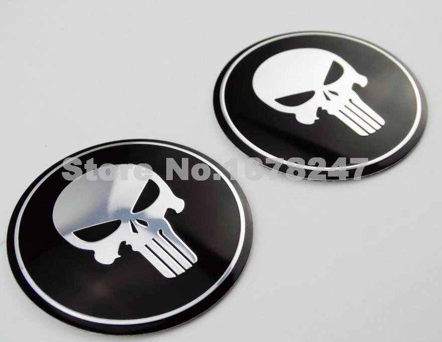 Set Motorcycles Petrol Tank Fairing Skull Punisher Emblem Decal Stikcer Metal 3D