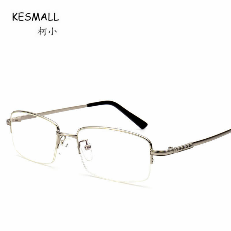 KESMALL 2017 Alloy Square Shaped Glasses Frame Black Men Optical Eyeglasses Frames font b Women b