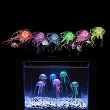 Aquatic decoration with glowing and floating jellyfish