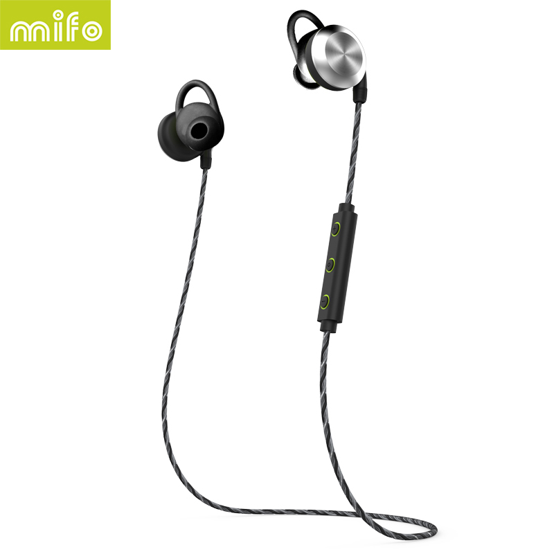 mifo U2 Magnet Sport Bluetooth headphone Wireless Bluetooth Earphone Waterproof Stereo Headset Earbuds For iphone Huawei Samsung portable waterproof earphone storage box drop resistance protective case for headphone mp3 player headset amp earplugs earbuds