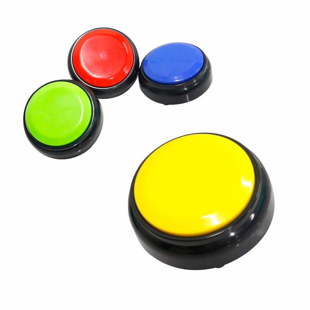 4 colores cada conjunto nuevo diseño M5 30s Botón de tiempo de grabación de voz para grabar mensajes y conversaciones