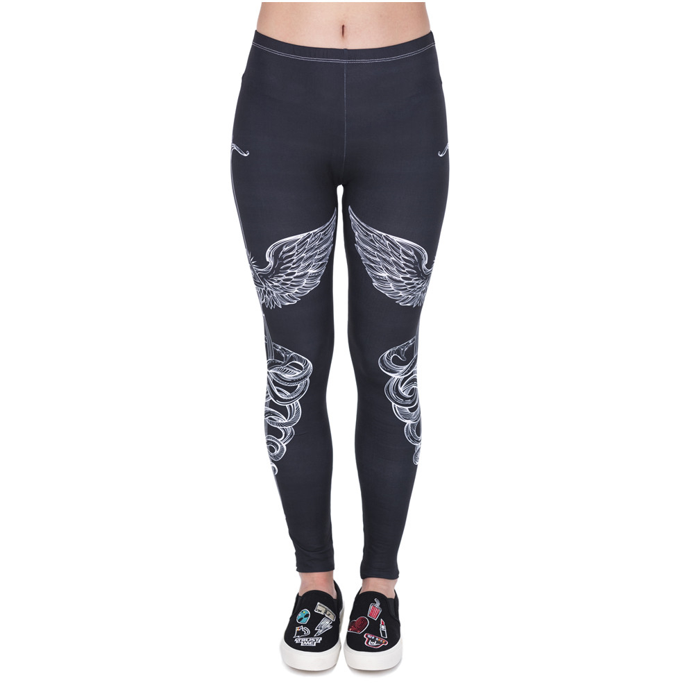 Spring Fashion Women Legins Sword 3D Printing Legging Slim High Waist Woman Leggings