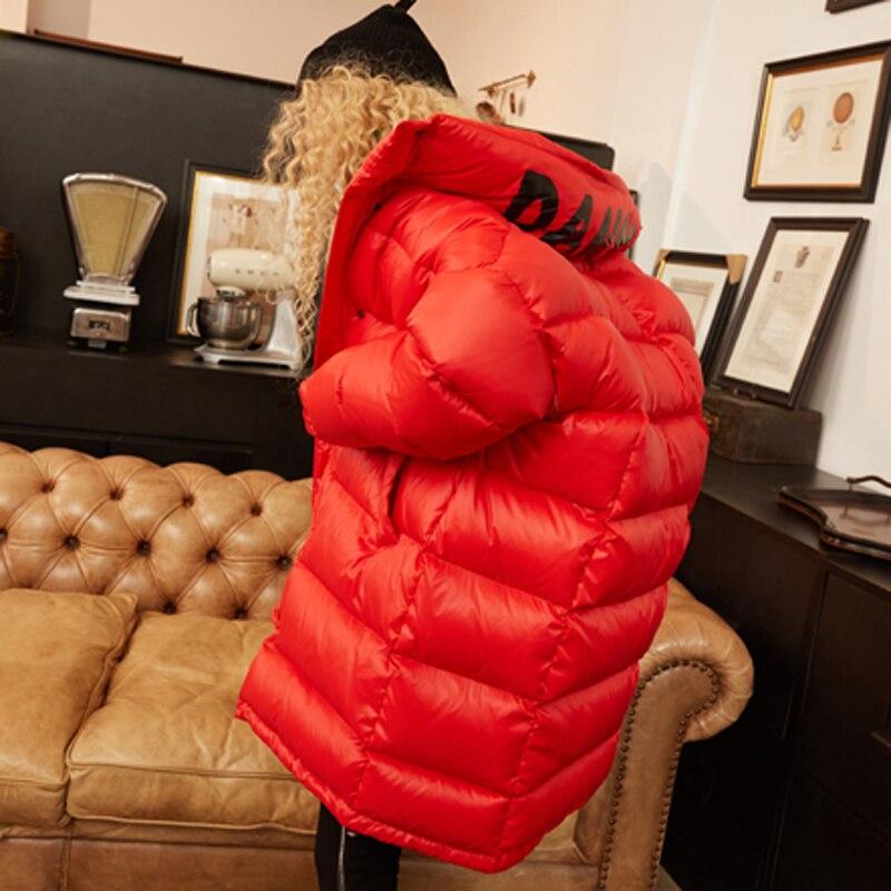 D'hiver Hiver Blanc Veste Plus De Long La Lâche rouge Survêtement A703 Femmes Européenne Manteau Noir Canard 2018 Femelle Taille Duvet Épais dX6xdIv